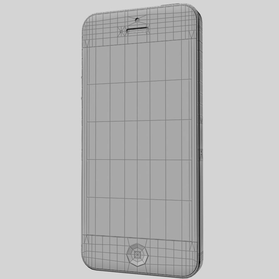 Smartfon Apple iPhone 5 royalty-free 3d model - Preview no. 14