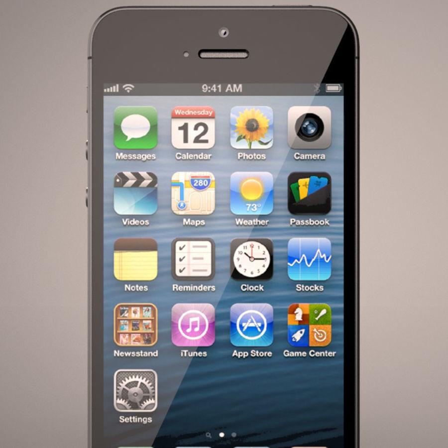 苹果iPhone 5智能手机 royalty-free 3d model - Preview no. 5