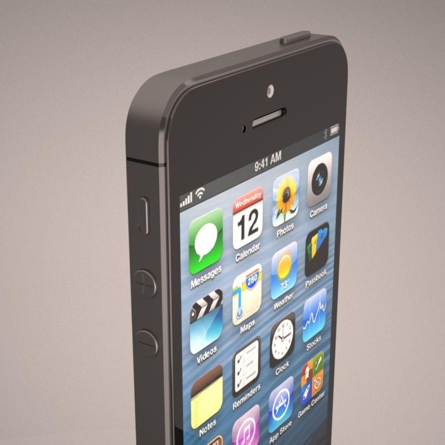 苹果iPhone 5智能手机 royalty-free 3d model - Preview no. 9