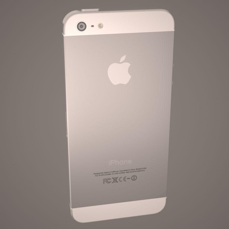 苹果iPhone 5智能手机 royalty-free 3d model - Preview no. 12