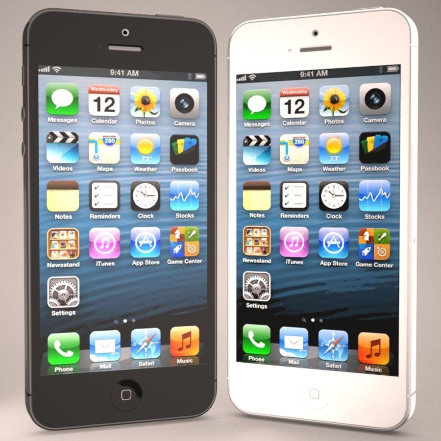苹果iPhone 5智能手机 royalty-free 3d model - Preview no. 3