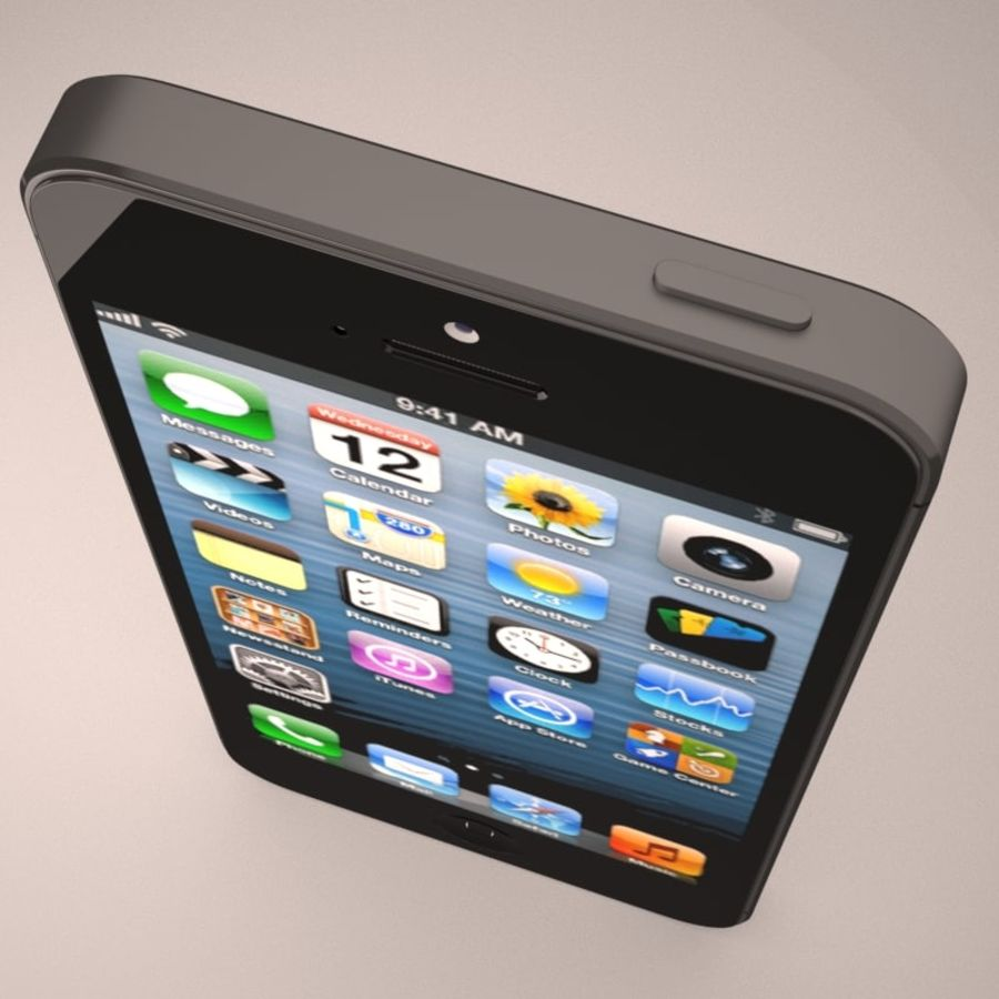 Smartfon Apple iPhone 5 royalty-free 3d model - Preview no. 8