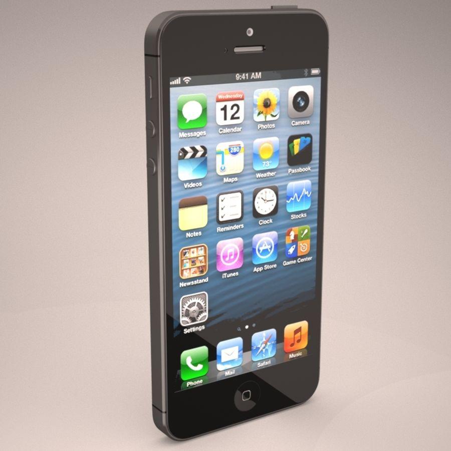 苹果iPhone 5智能手机 royalty-free 3d model - Preview no. 7