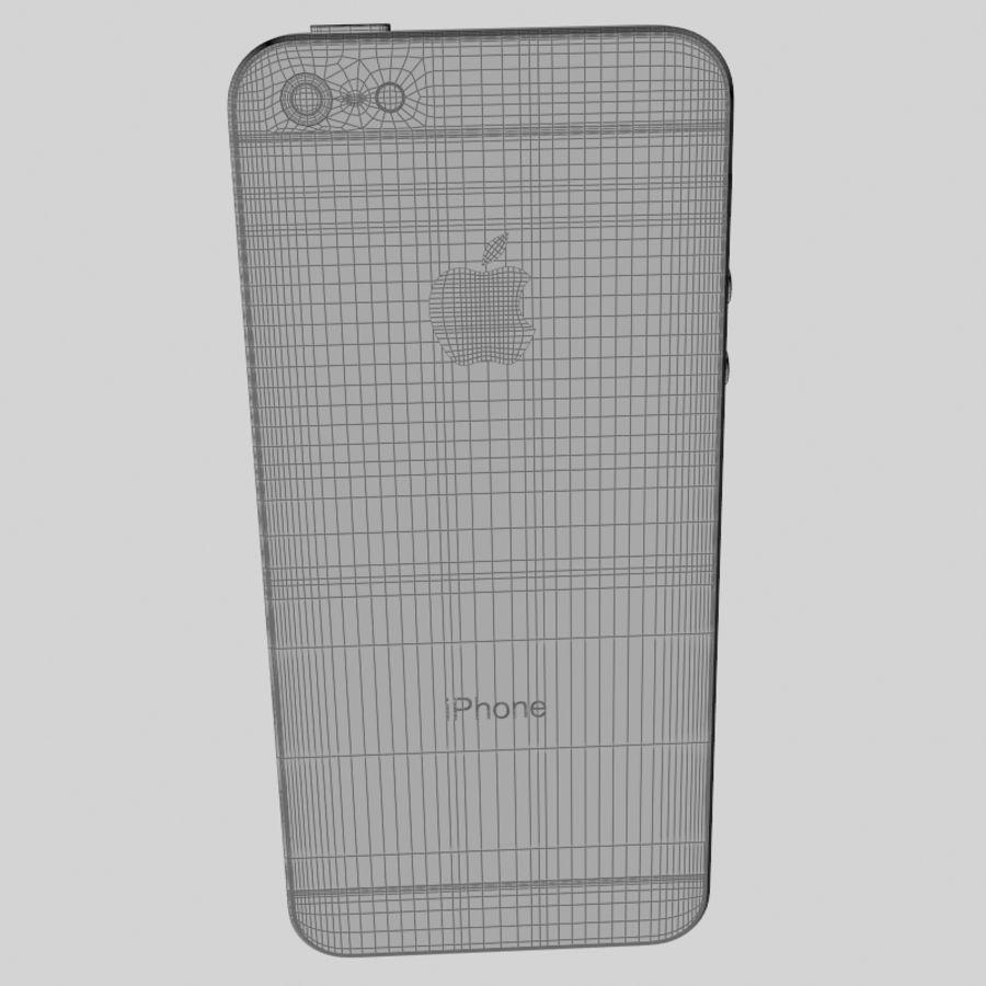 苹果iPhone 5智能手机 royalty-free 3d model - Preview no. 20
