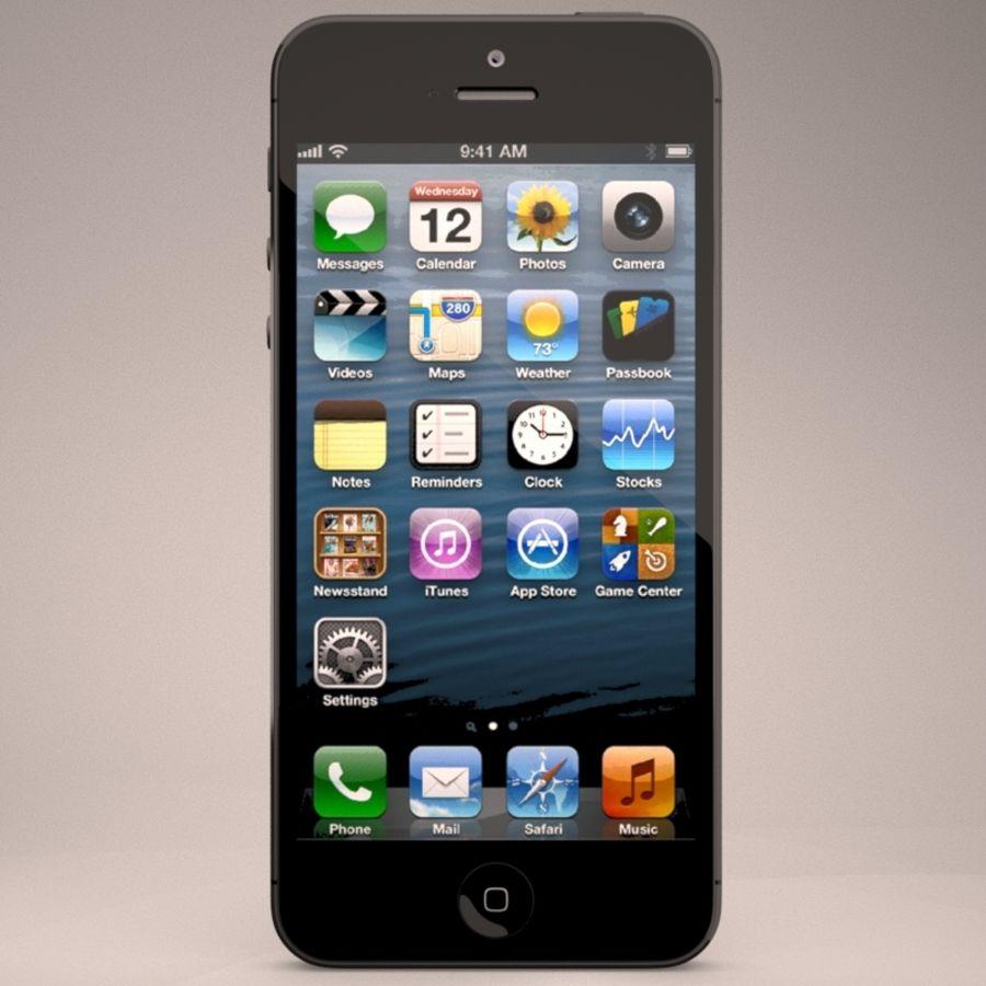 苹果iPhone 5智能手机 royalty-free 3d model - Preview no. 4