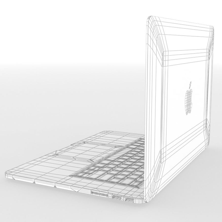 苹果MacBook Pro笔记本电脑 royalty-free 3d model - Preview no. 11