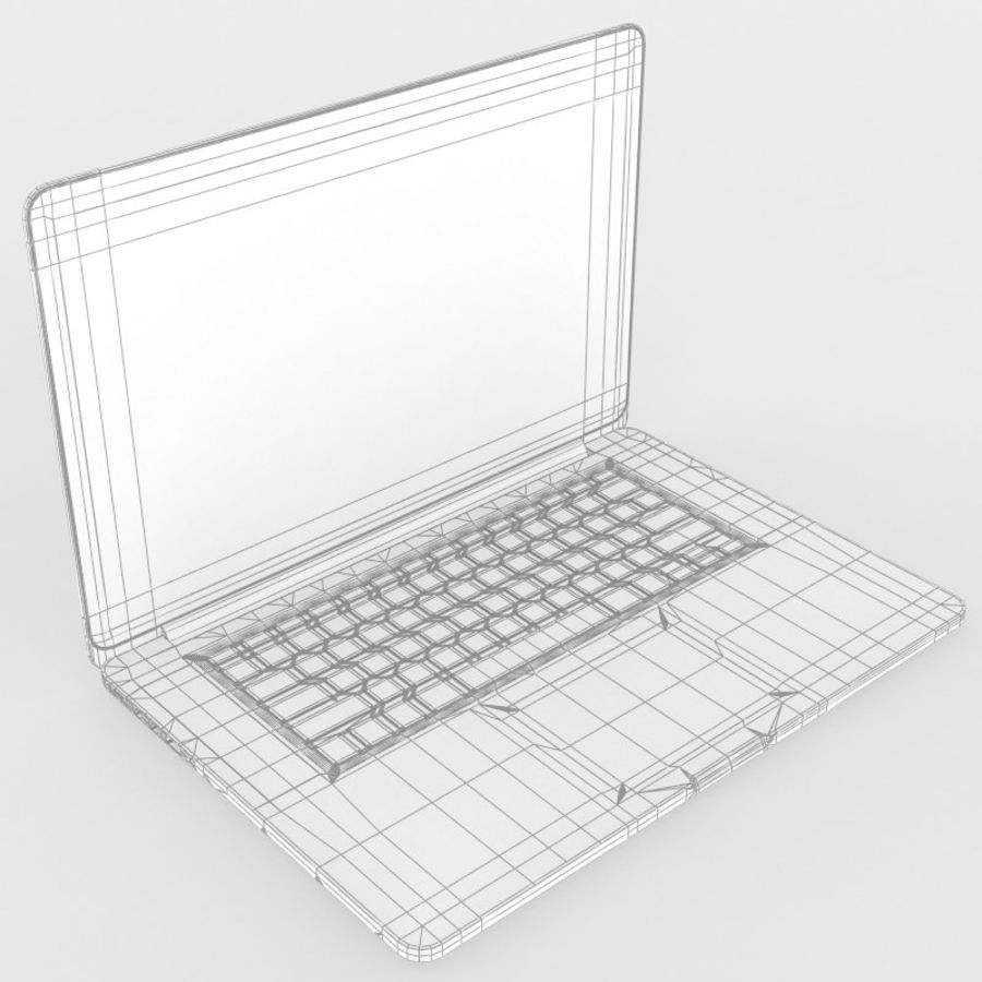 苹果MacBook Pro笔记本电脑 royalty-free 3d model - Preview no. 9