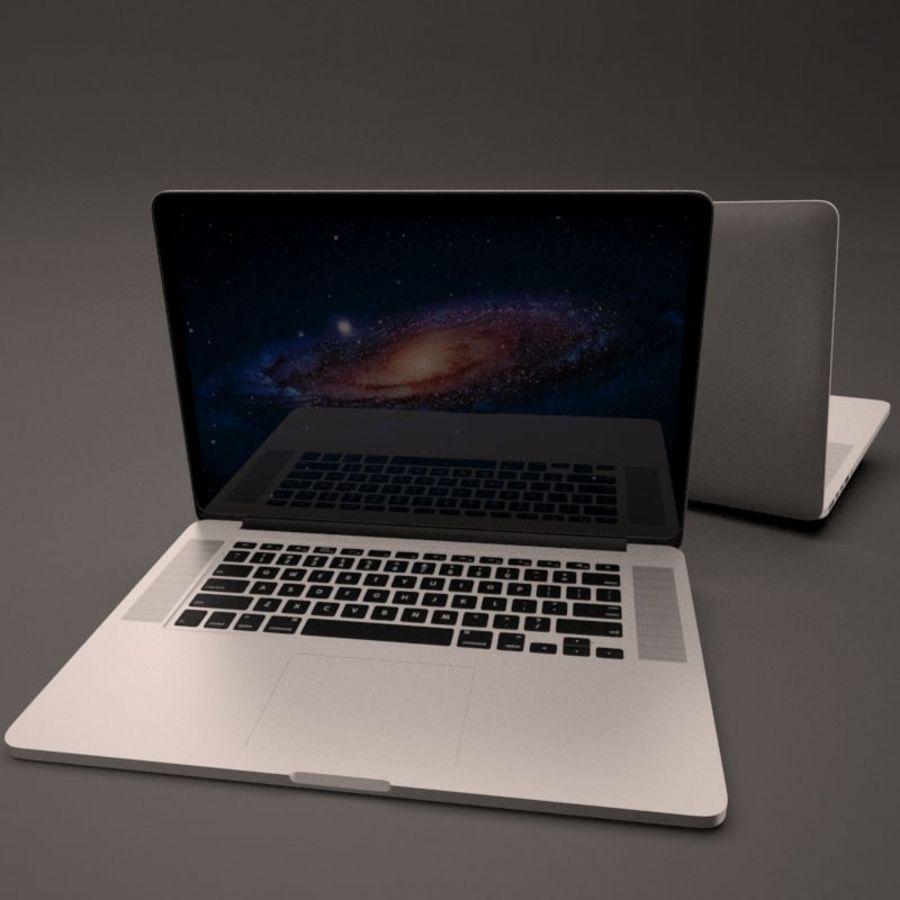 苹果MacBook Pro笔记本电脑 royalty-free 3d model - Preview no. 8