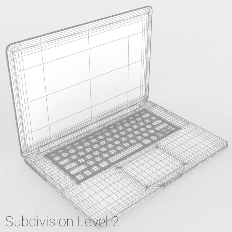 苹果MacBook Pro笔记本电脑 royalty-free 3d model - Preview no. 10
