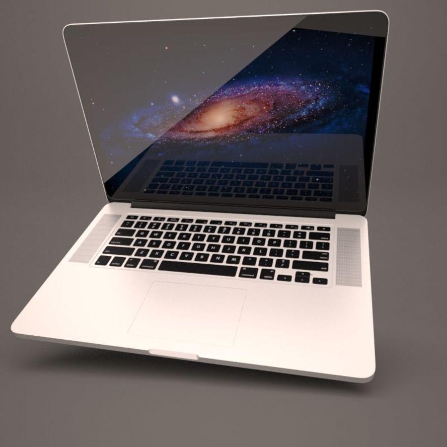 苹果MacBook Pro笔记本电脑 royalty-free 3d model - Preview no. 3