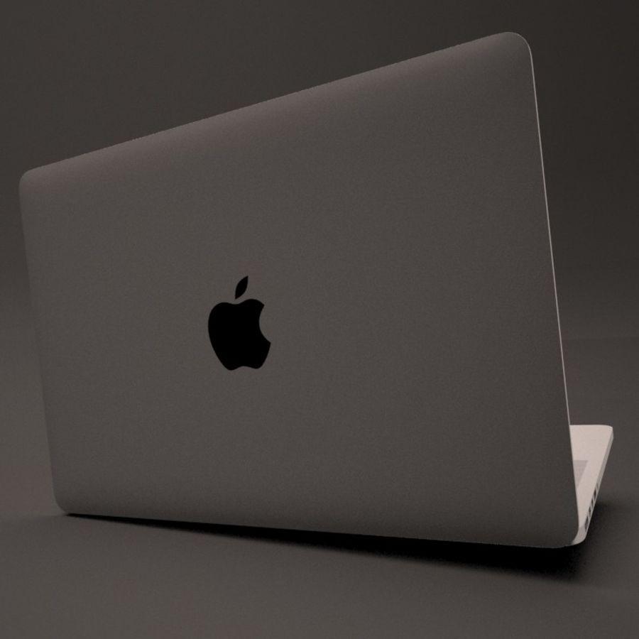 苹果MacBook Pro笔记本电脑 royalty-free 3d model - Preview no. 7