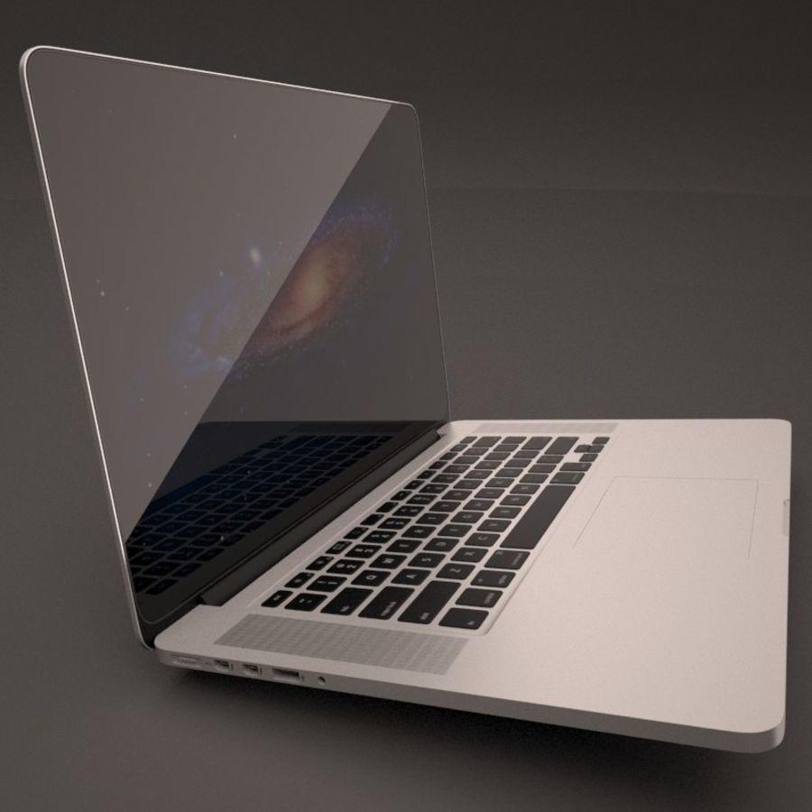 苹果MacBook Pro笔记本电脑 royalty-free 3d model - Preview no. 6