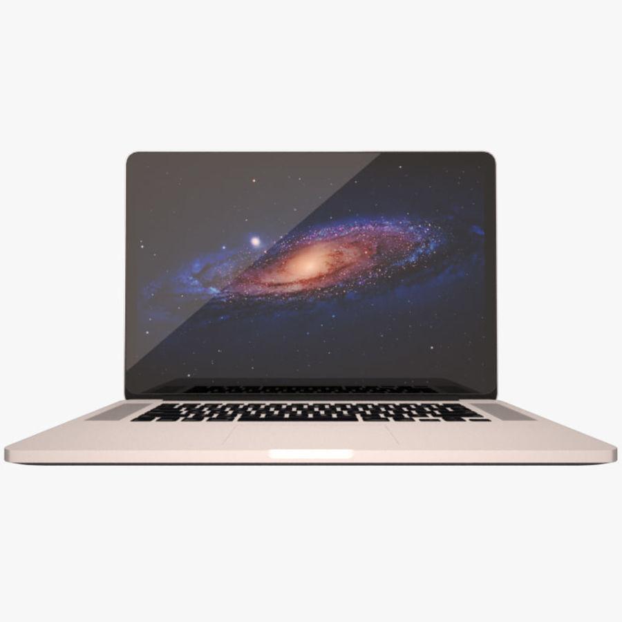 苹果MacBook Pro笔记本电脑 royalty-free 3d model - Preview no. 1