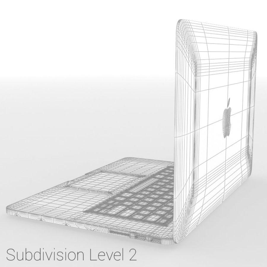 苹果MacBook Pro笔记本电脑 royalty-free 3d model - Preview no. 12