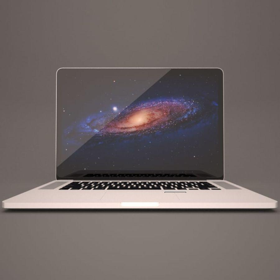 苹果MacBook Pro笔记本电脑 royalty-free 3d model - Preview no. 2