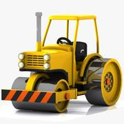 Cartoon Road Roller 1 3d model