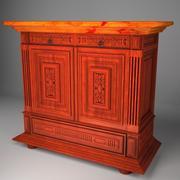 Commode classique avec meubles anciens 3d model