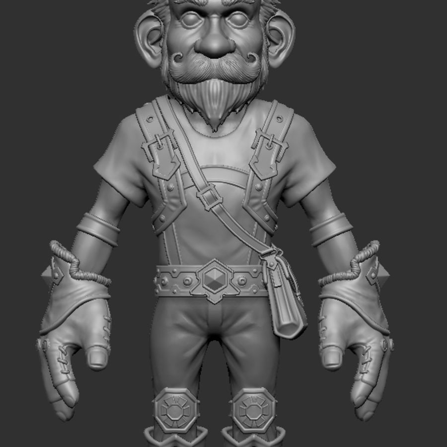 Gnom royalty-free 3d model - Preview no. 1
