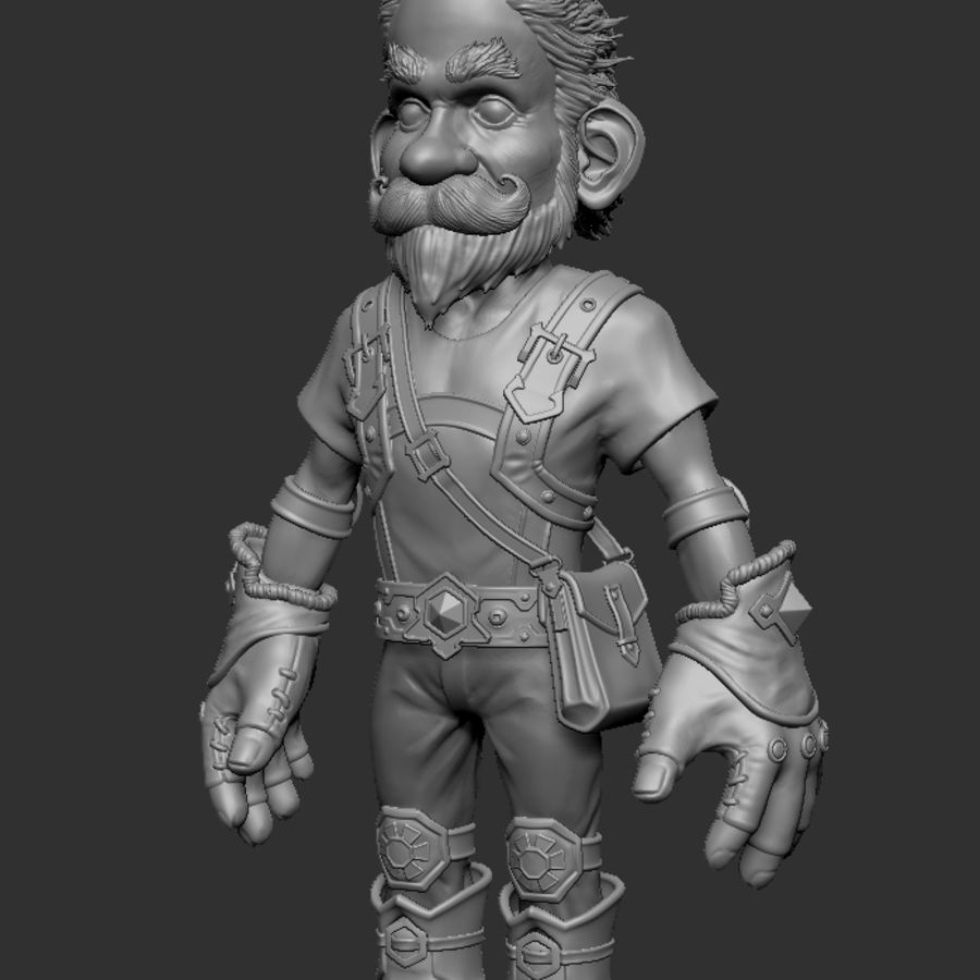 Gnom royalty-free 3d model - Preview no. 3