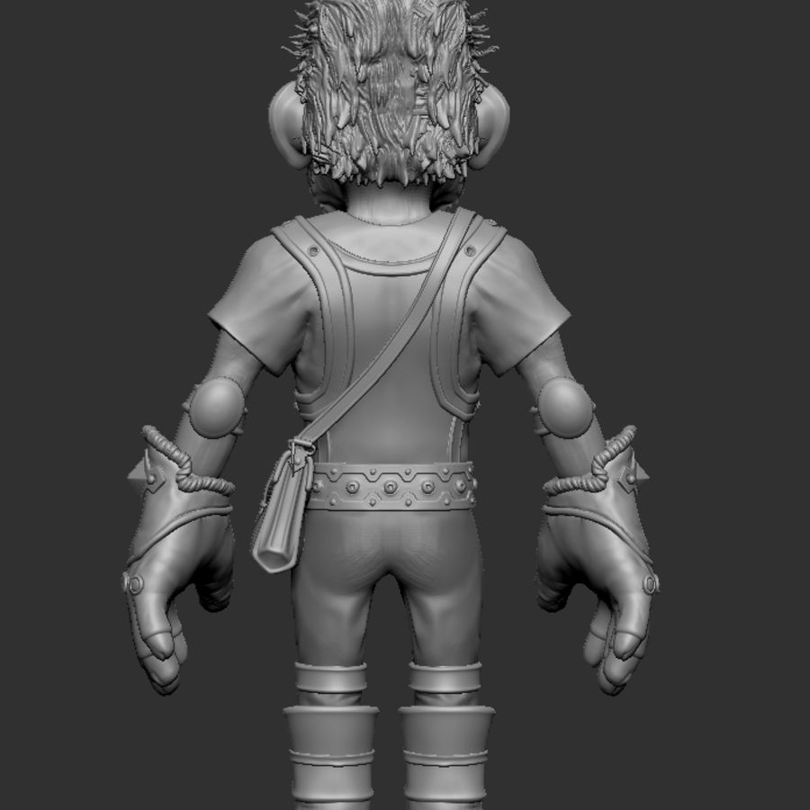 Gnom royalty-free 3d model - Preview no. 6