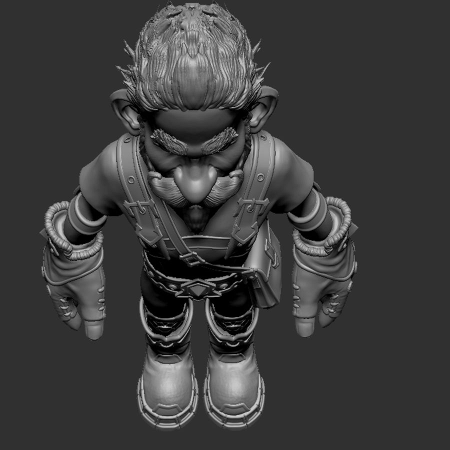 Gnom royalty-free 3d model - Preview no. 9