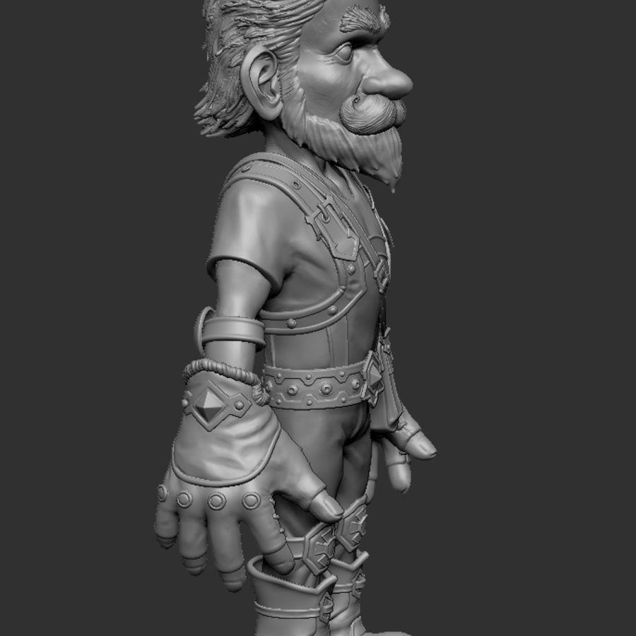 Gnom royalty-free 3d model - Preview no. 4