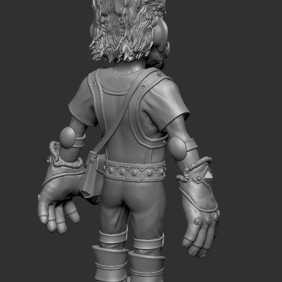 Gnom royalty-free 3d model - Preview no. 5