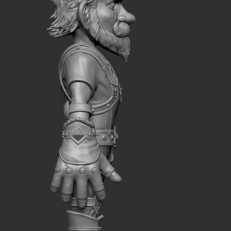 Gnom royalty-free 3d model - Preview no. 10
