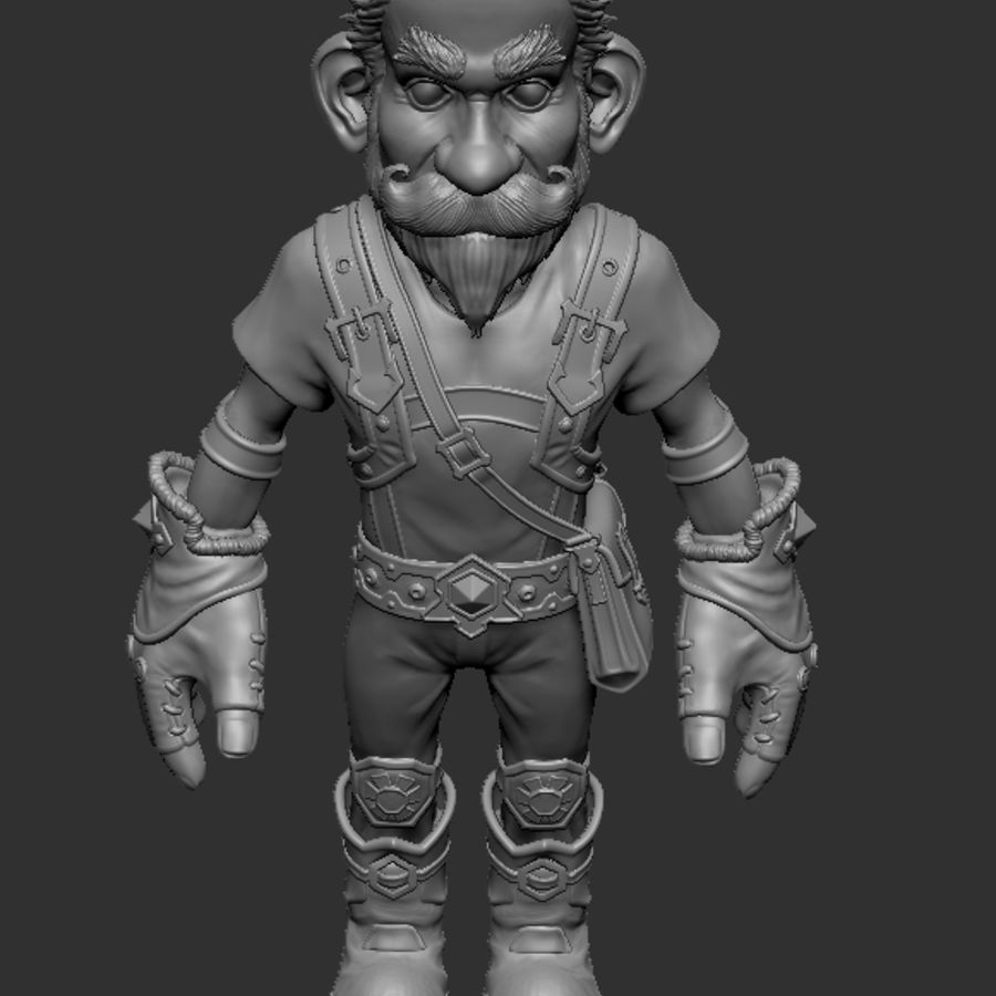 Gnom royalty-free 3d model - Preview no. 8