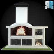 Garden Fireplace 005 3d model
