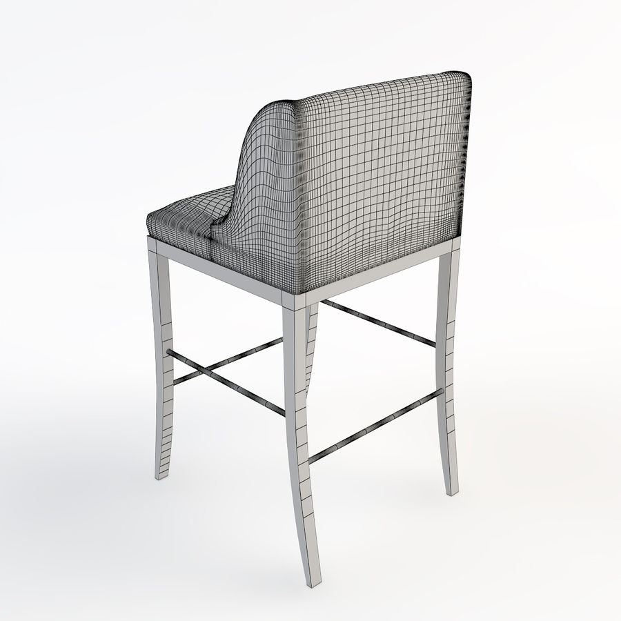 바 의자 royalty-free 3d model - Preview no. 4