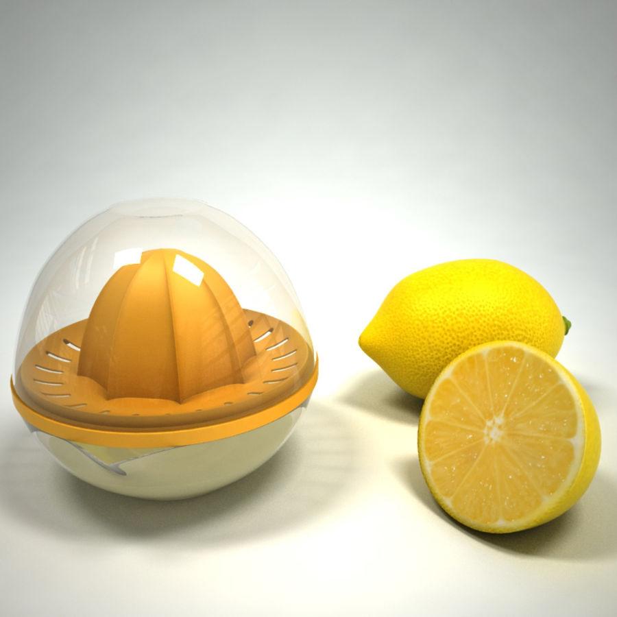 Citrus Juicer & Lemons royalty-free 3d model - Preview no. 5