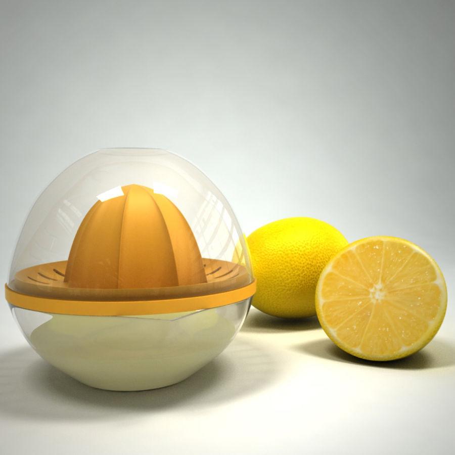 Citrus Juicer & Lemons royalty-free 3d model - Preview no. 4