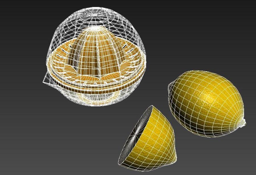 Citrus Juicer & Lemons royalty-free 3d model - Preview no. 7