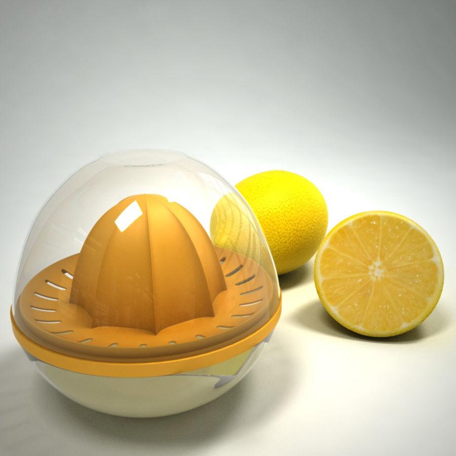 Citrus Juicer & Lemons royalty-free 3d model - Preview no. 1