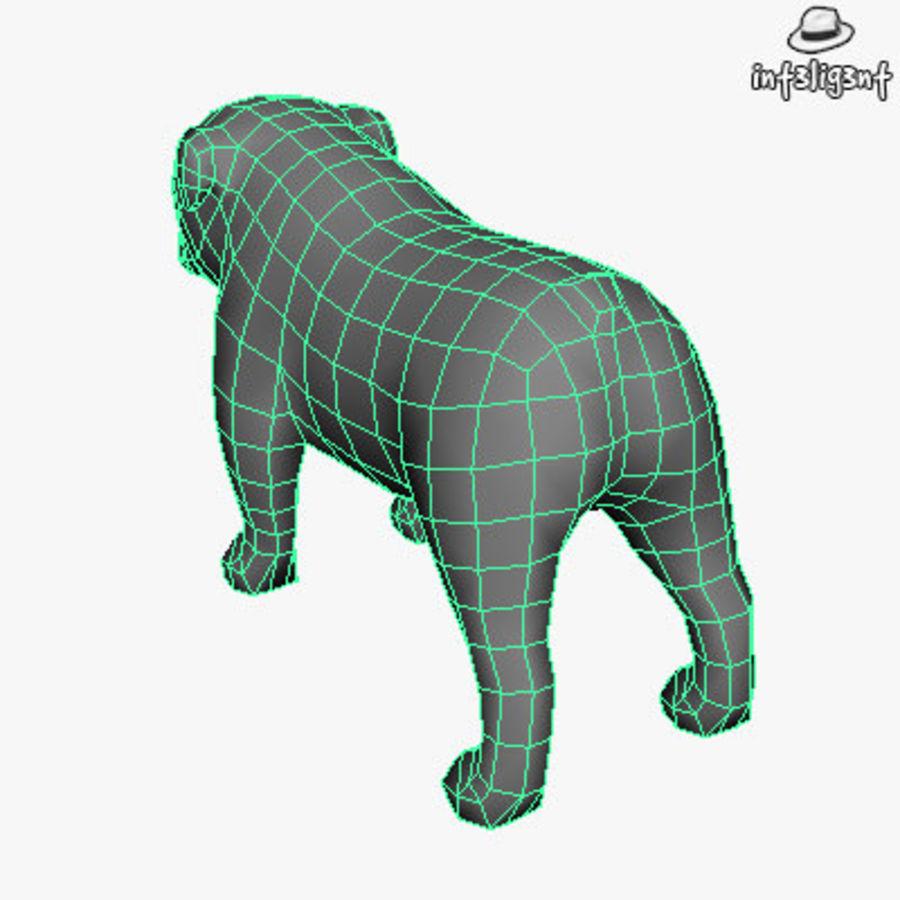 Low Poly English Bulldog royalty-free 3d model - Preview no. 6