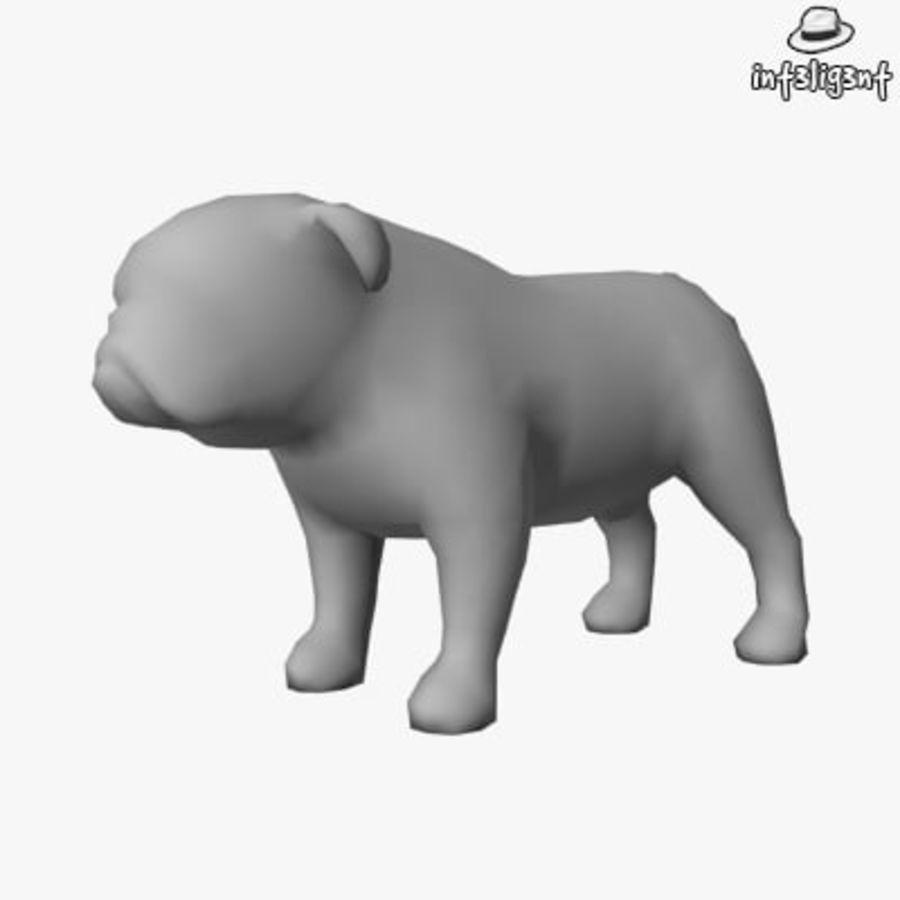 Low Poly English Bulldog royalty-free 3d model - Preview no. 1