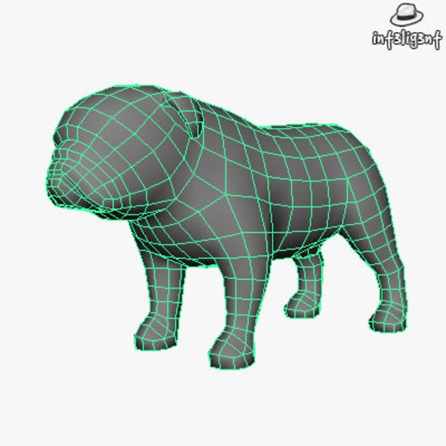 Low Poly English Bulldog royalty-free 3d model - Preview no. 4