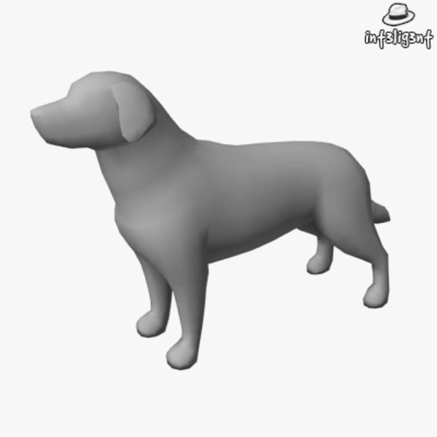 Low Poly Labrador Retriever royalty-free 3d model - Preview no. 1