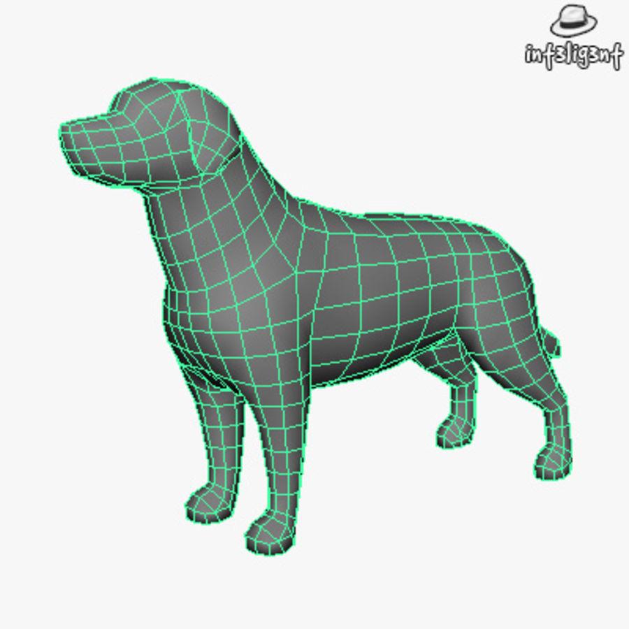 Low Poly Labrador Retriever royalty-free 3d model - Preview no. 4