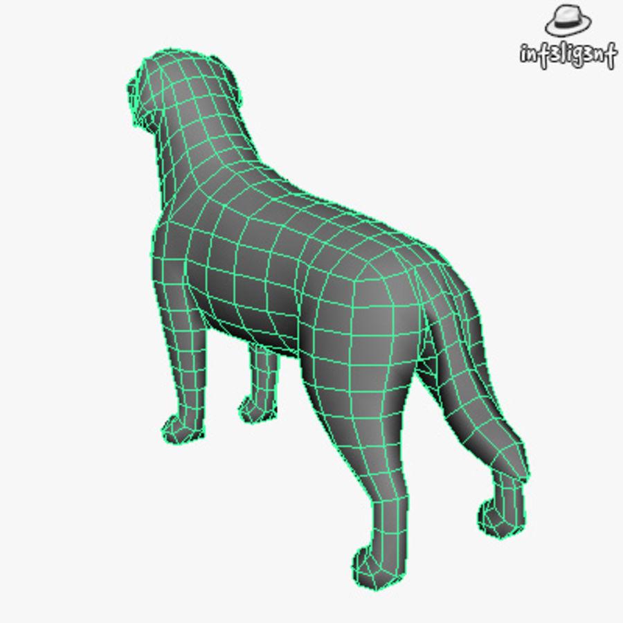 Low Poly Labrador Retriever royalty-free 3d model - Preview no. 6
