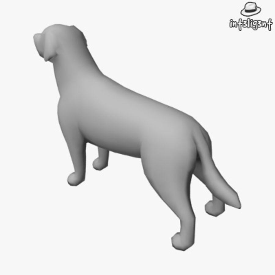 Low Poly Labrador Retriever royalty-free 3d model - Preview no. 3