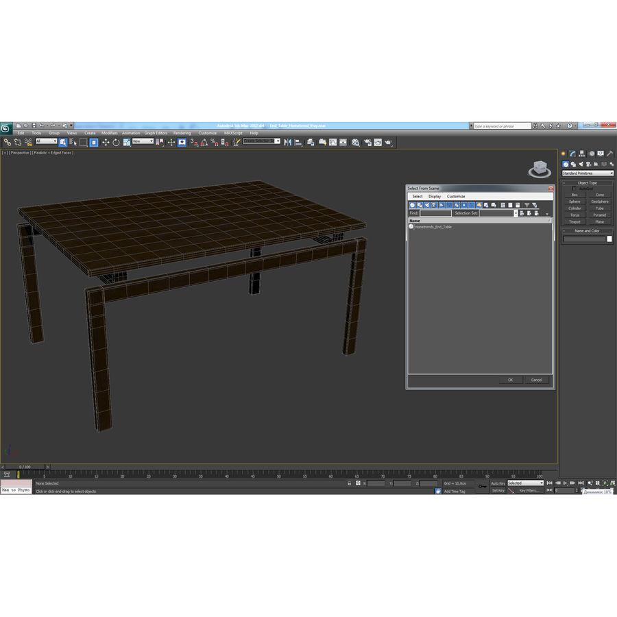 茶几Hometrend royalty-free 3d model - Preview no. 16
