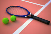 racket and ball 3d model