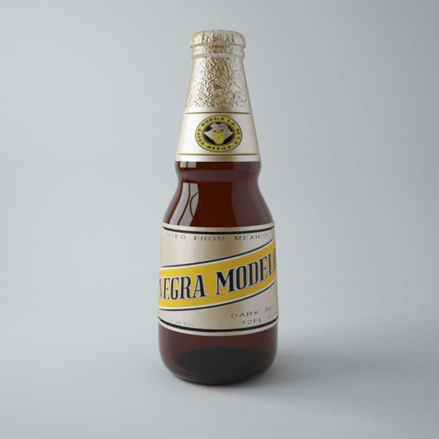 Negra Modelo Beer Bottle royalty-free 3d model - Preview no. 1