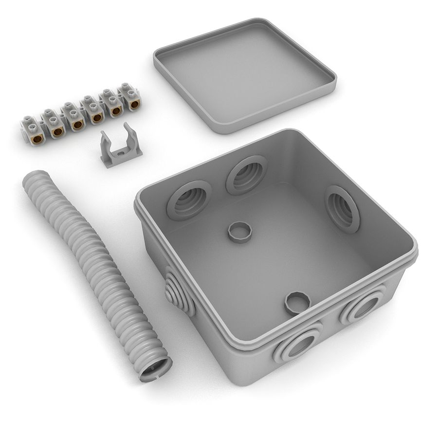 Skrzynka elektryczna royalty-free 3d model - Preview no. 4