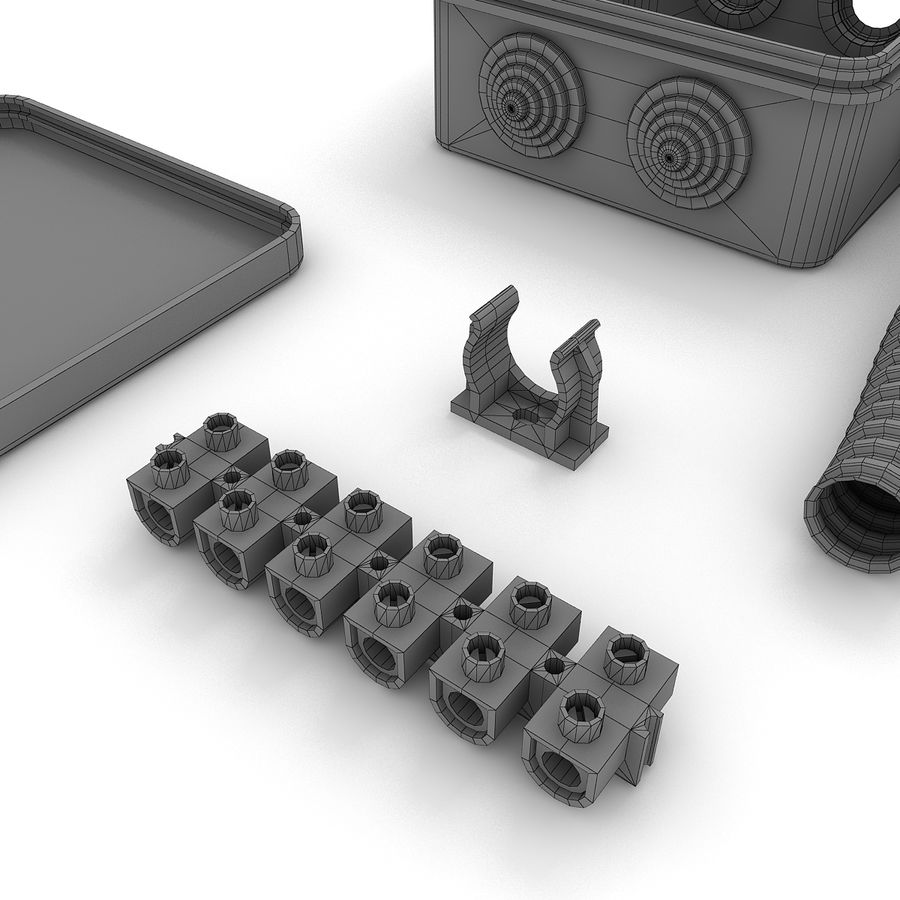 Skrzynka elektryczna royalty-free 3d model - Preview no. 7