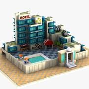 Cartoon Hotel 2 3d model