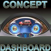 3d 개념 대시 보드 3d model