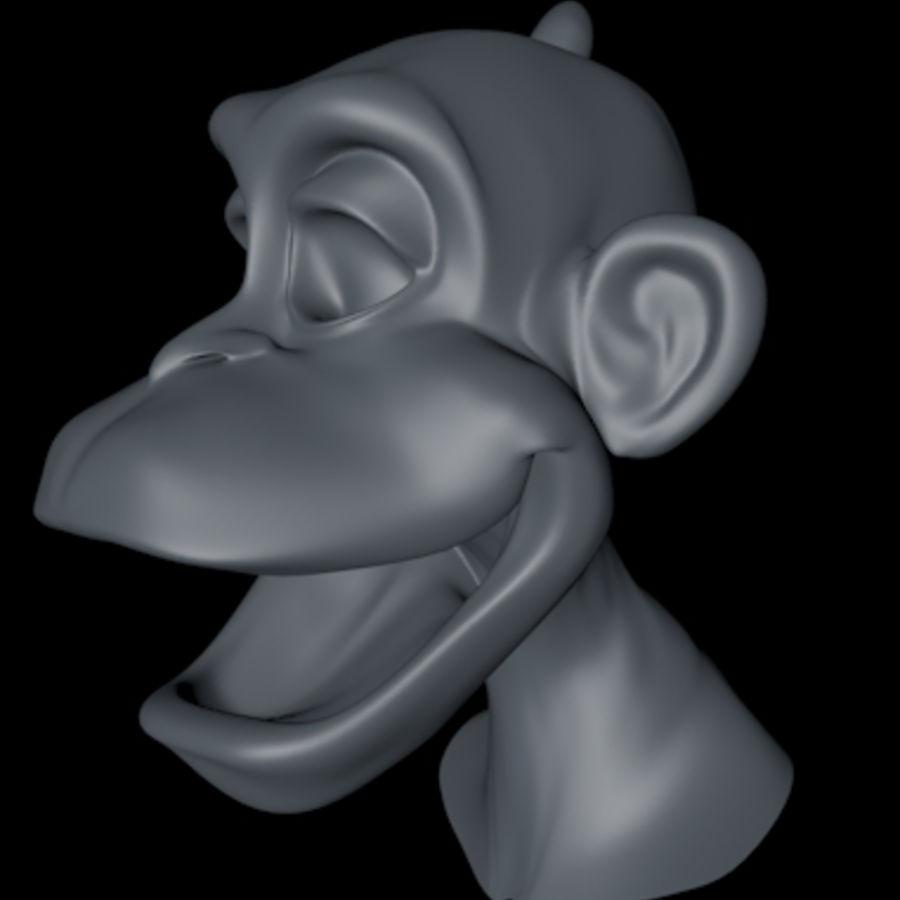 원숭이 royalty-free 3d model - Preview no. 2